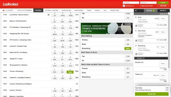 betting ladbrokes football odds