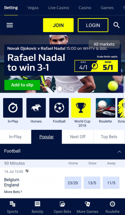 William Hill android app screenshot-1