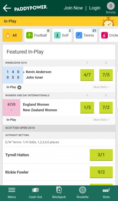 Paddy Power android app screenshot-1