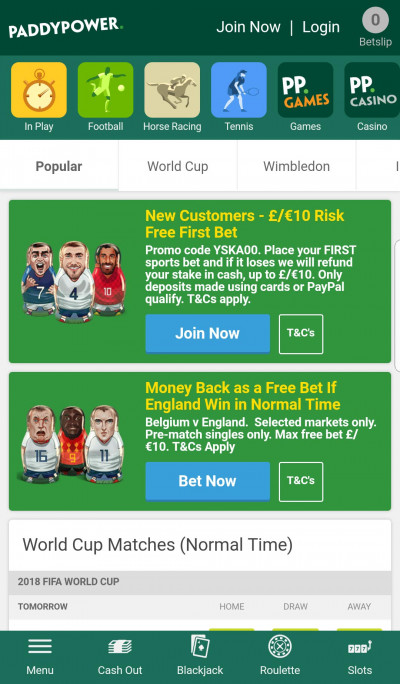 Paddy Power android app screenshot-2