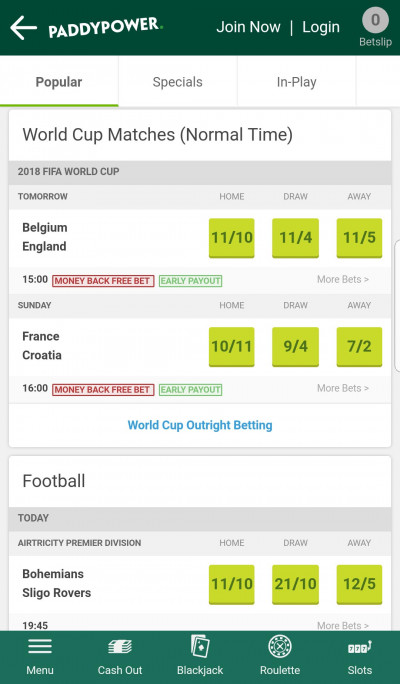 Paddy Power android app screenshot-3
