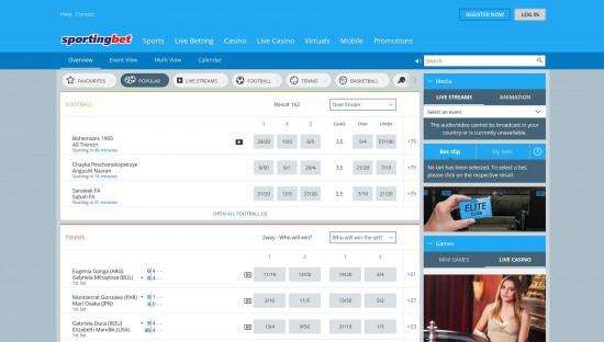 Sportingbet desktop screenshot-1