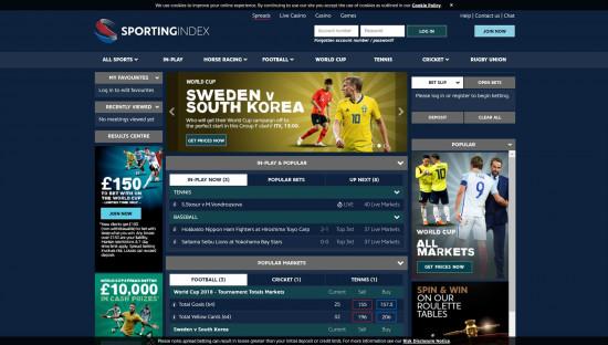 Sporting Index desktop screenshot-1