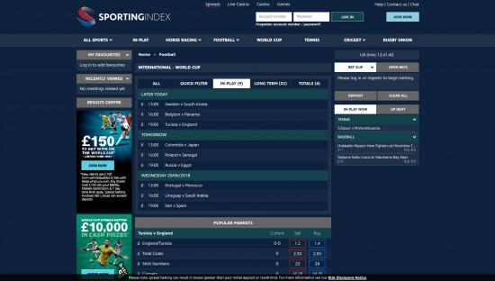 Sporting Index desktop screenshot-2