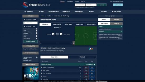 Sporting Index desktop screenshot-3