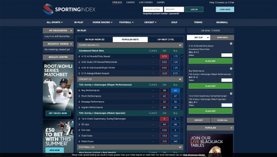 Sporting Index desktop screenshot-5