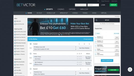 BetVictor desktop screenshot-1