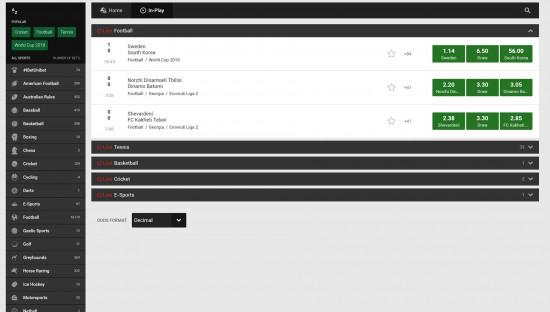 Unibet desktop screenshot-1