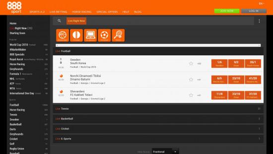 888Sport desktop screenshot-2