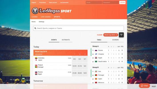 LeoVegas desktop screenshot-1