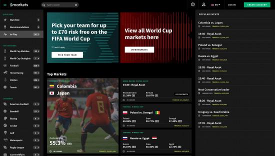 Smarkets desktop screenshot-1