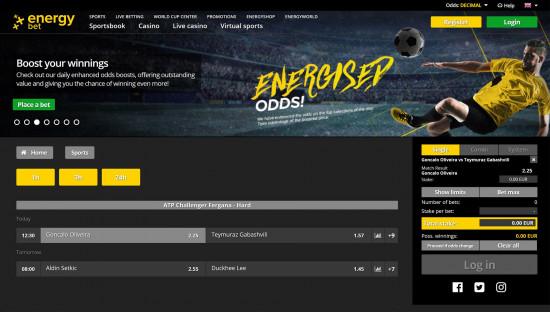 Energy Bet desktop screenshot-2