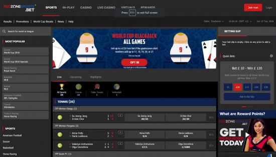 RedZoneSports desktop screenshot-2