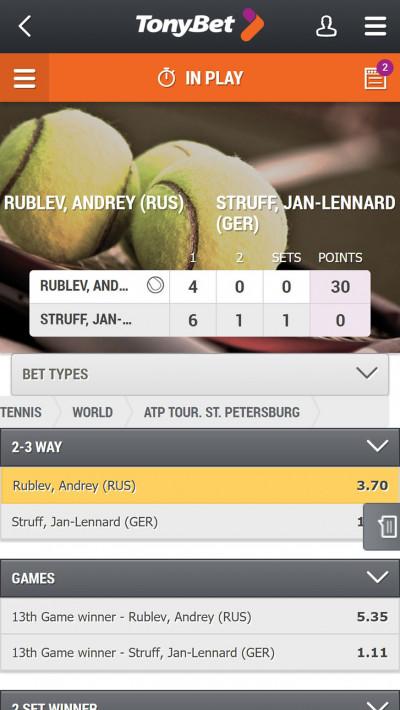 TonyBet mobile app screenshot-3