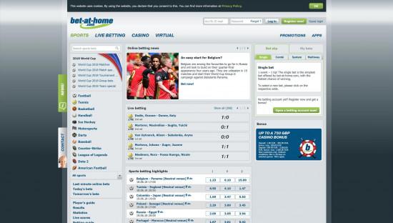 Bet At Home desktop screenshot-1