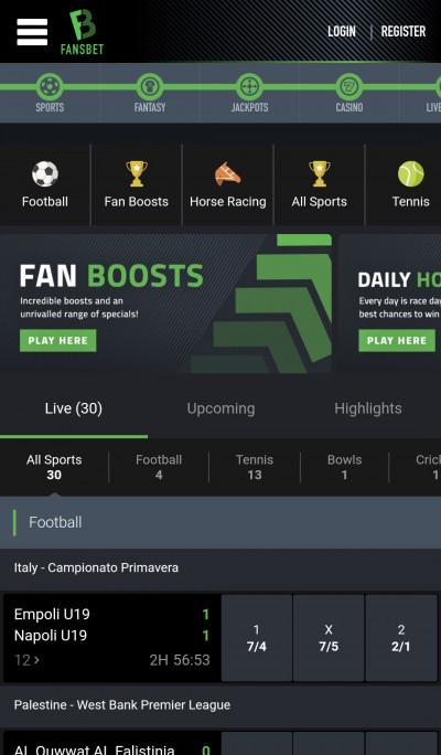 Fansbet android app screenshot-2
