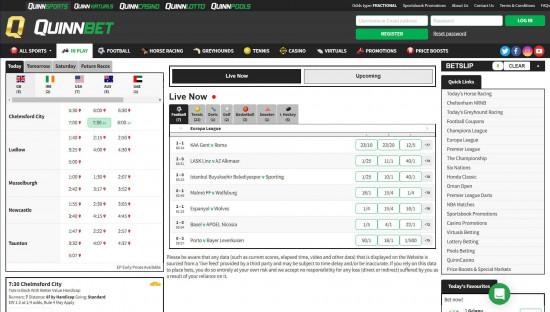QuinnBet desktop screenshot-1