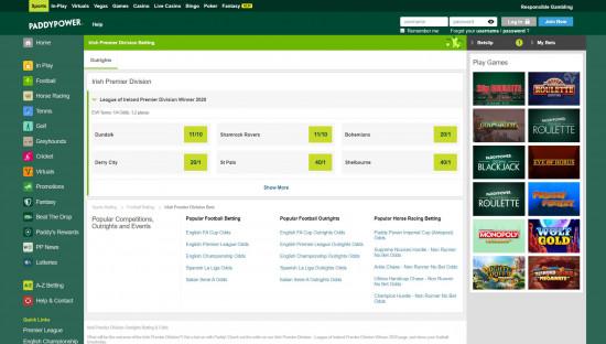 Paddy Power desktop screenshot-2