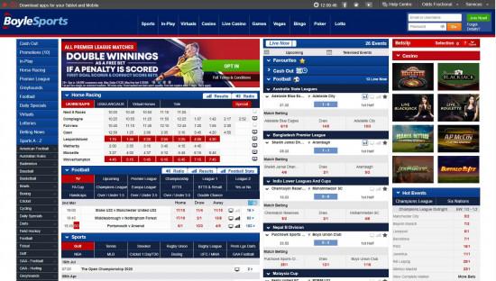 BoyleSports desktop screenshot-1