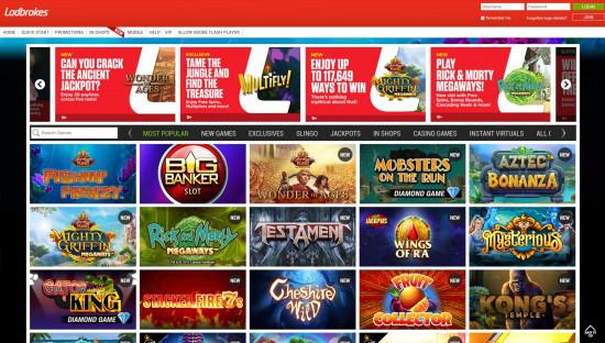Ladbrokes Casino desktop screenshot-2