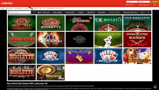 Ladbrokes Casino desktop screenshot-4