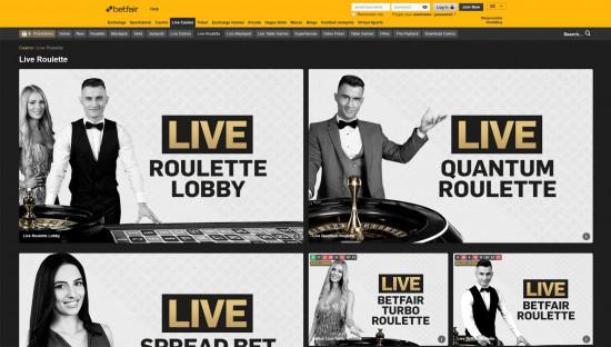 Betfair Casino desktop screenshot-1