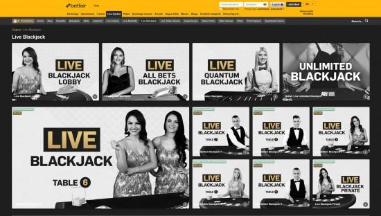 Betfair Casino desktop screenshot-2