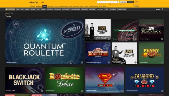 Betfair Casino desktop screenshot-3