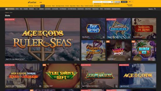 Betfair Casino desktop screenshot-5