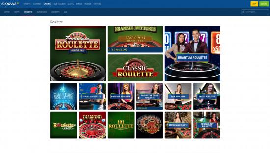 Coral Casino desktop screenshot-1