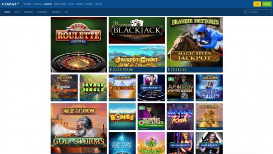 Coral Casino desktop screenshot-2