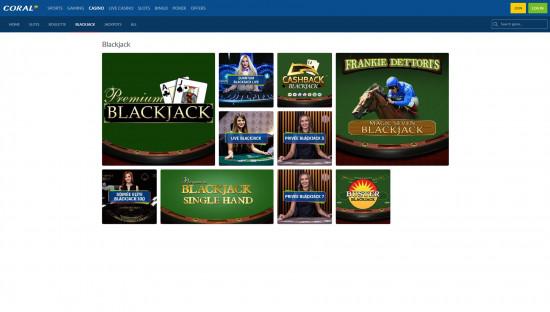 Coral Casino desktop screenshot-3