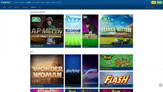 Coral Casino desktop screenshot-4