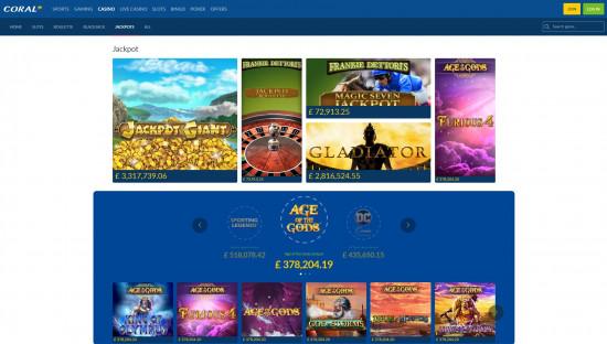 Coral Casino desktop screenshot-5