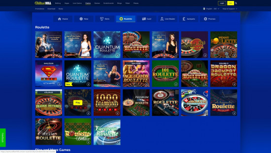 William Hill Casino desktop screenshot-4