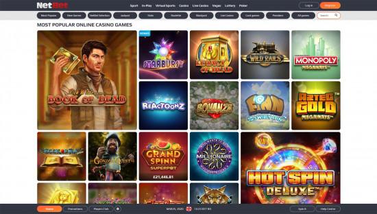 NetBet Casino desktop screenshot-2