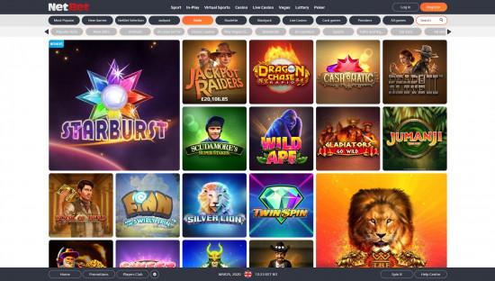 NetBet Casino desktop screenshot-3