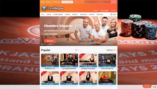 LeoVegas Casino desktop screenshot-2