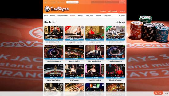 LeoVegas Casino desktop screenshot-3