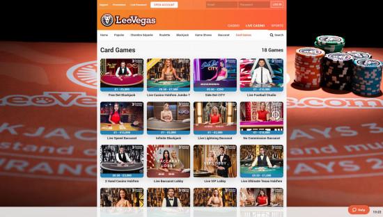 LeoVegas Casino desktop screenshot-5