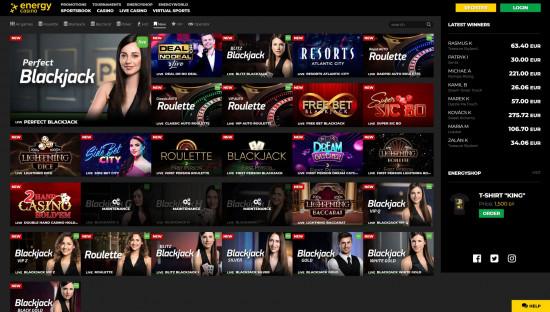 EnergyCasino desktop screenshot-5