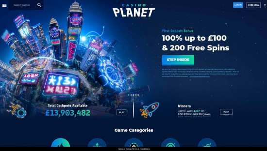 Casino Planet desktop screenshot-1