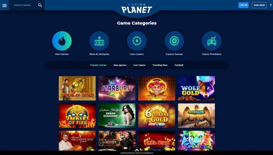 Casino Planet desktop screenshot-2