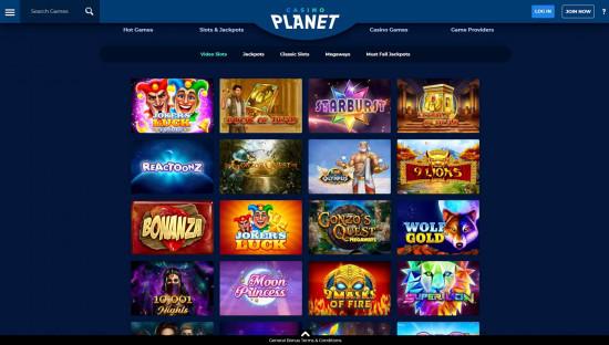 Casino Planet desktop screenshot-3