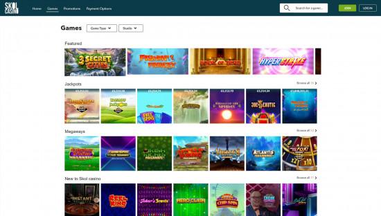 Skol Casino desktop screenshot-1