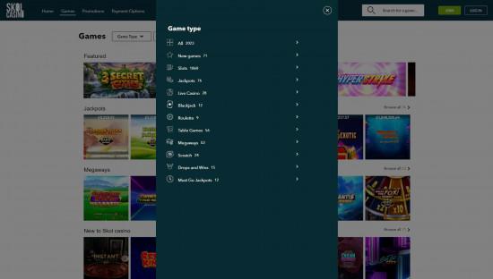 Skol Casino desktop screenshot-2