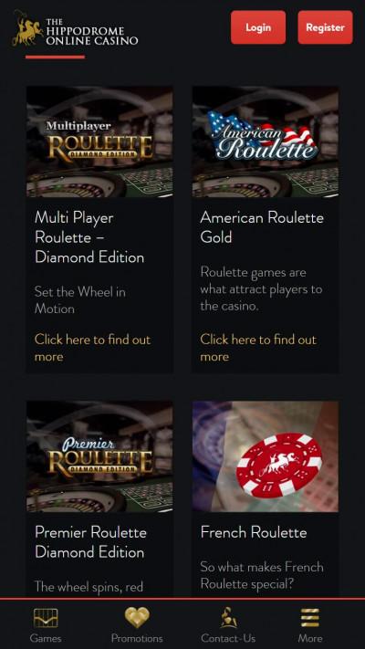 Hippodrome Casino mobile app screenshot-1