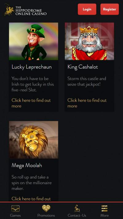 Hippodrome Casino mobile app screenshot-3