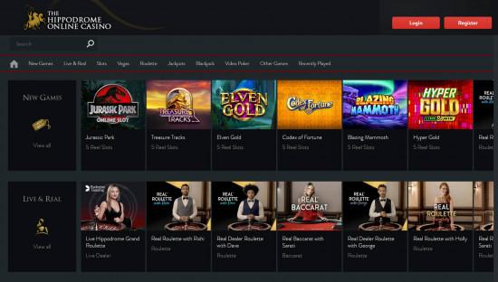 Hippodrome Casino desktop screenshot-1