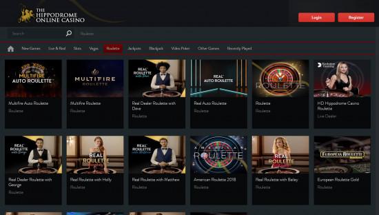 Hippodrome Casino desktop screenshot-3